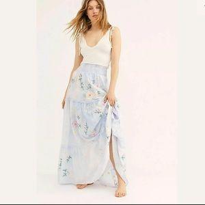 Fillyboo Daisy Island Maxi Skirt Blue Tie Dye Sz M